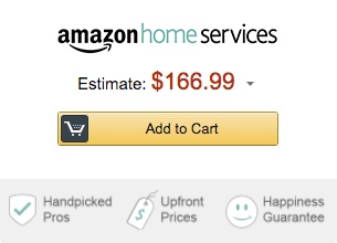 Amazon home services add to cart